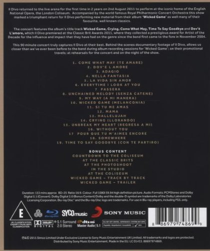 Il divo live in london blu ray for Il divo cd list